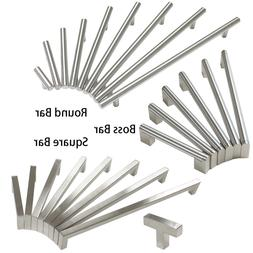 Brushed Nickel Cabinet Drawer Pulls Knobs Square/Round/Boss