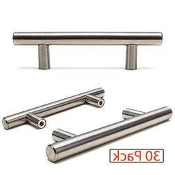 Ravinte Brushed Nickel Cabinet Pulls, Euro Style Stainless S