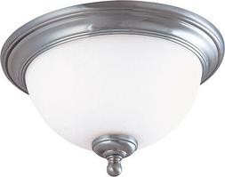 Brushed Nickel Energy Star LED Ceiling With Satin White Glas