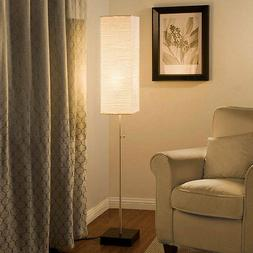 Alsy 60 In. Brushed Nickel Floor Lamp with Paper Shade and D