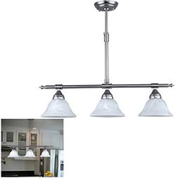 Brushed Nickel Kitchen Island Pendant Light Fixture Dining,