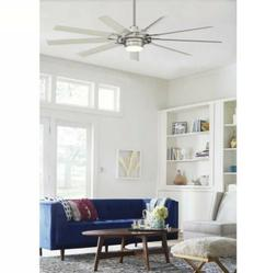 72-in Brushed Nickel Modern Large Outdoor Ceiling Fan with L