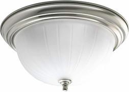 HomeStyle Brushed Nickel One Light Flush Mount, HS31003-09