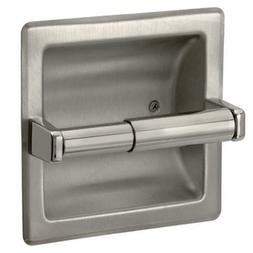Brushed Nickel Recessed Toilet Paper Holder - Includes Rear