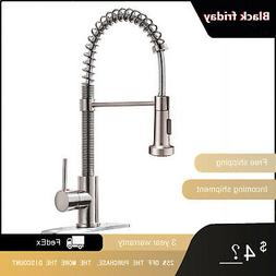Brushed Nickel Single Handle One Hole Brass Waterfall Bathro