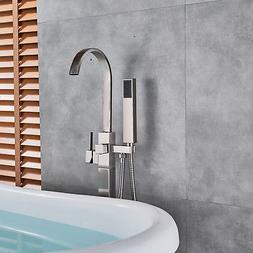 Brushed Nickel Single Lever Bathtub Shower Faucet System Han