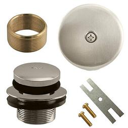 Brushed Nickel Toe Touch Tap Bath Tub Drain Conversion Kit A