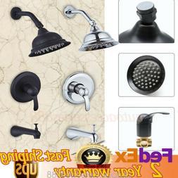 Brushed Nickel Tub&Shower Faucet For 1/2inch Hose Nickel Wat