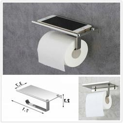 Brushed Nickel Wall Mount Bathroom Toilet Paper Holder with