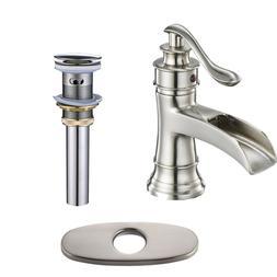 Bathroom Sink Faucet with Deck Plate Single Handle Deck Moun