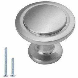 Lizavo Brushed Satin Nickel Kitchen Cabinet Knobs Modern Rou