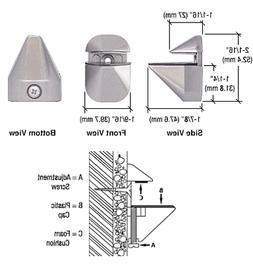 C.R. LAURENCE DL631BN CRL Brushed Nickel Adjustable Shelf Br