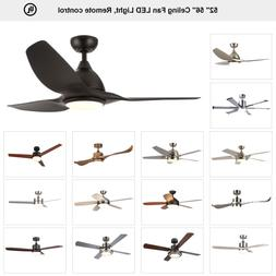 "Ceiling Fan 52"" 56'' Brushed Nickel / Old Bronze with LED Li"