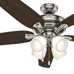 Hunter 60 in. LED Ceiling Fan with 4 Lights and Cased White