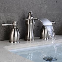 Chrome/Brushed Nickel/ORB  Bathroom Sink Faucet Two Hole Thr