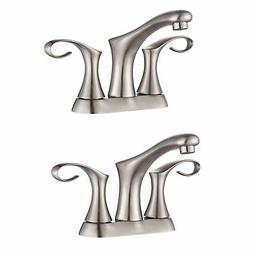 Kraus Cirrus 4 Inch Centerset 2 Handle Bathroom Sink Faucet