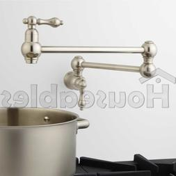 "21"" Classic Retractable Double Joint Wall Mount Pot Filler B"