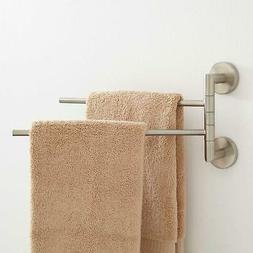 Signature Hardware Colvin Double Swing Arm Towel Bar in Brus