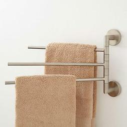 Signature Hardware Colvin Triple Swing Arm Towel Bar in Brus