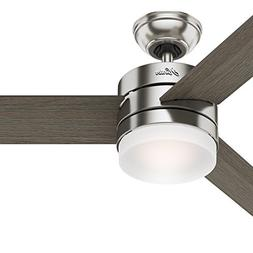 "Hunter 54"" Contemporary Ceiling Fan with Remote Control in B"