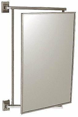"CRL Brushed Nickel 14"" x 22"" Pivot-N-View Mirror - PV14BN"