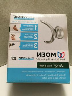MOEN Darcy Double Robe Hook with Press & Mark in Brushed Nic