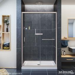 DreamLine DL-6107C-04CL Infinity-Z Shower Door, 36x48 Base &