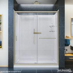 DreamLine DL-6117R-04CL Infinity-Z Shower Door, 32x60 Base &