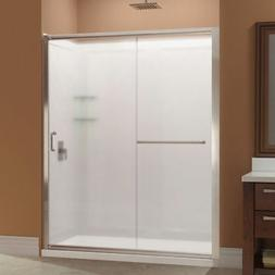 DreamLine DL-6118C-04FR Infinity-Z Shower Door, 34x60 Base &