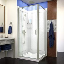 Dreamline DL-6717-04CL Flex Shower Enclosure, Base and Backw