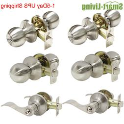 Door Lock Entry Privacy Passage Dummy Ball/Wave Lever/Tulip