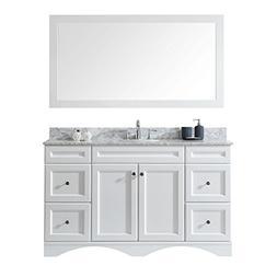 Virtu USA ES-25060-WMRO-WH-001 Talisa Single Bathroom Vanity