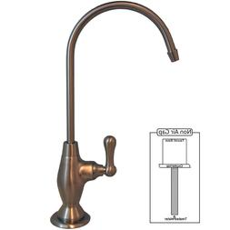 PURETECK Euro Style Non-Airgap Candy Cane RO Faucet - Brushe