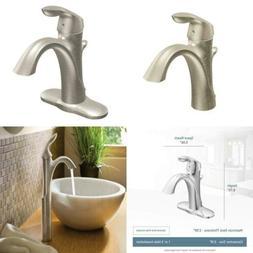 Eva One-Handle High Arc Bathroom Faucet Brushed Nickel Kitch