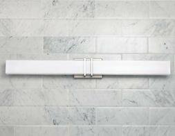 """Possini Euro Exeter 36"""" Wide Nickel LED Bathroom Light"""