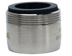 Faucet Aerator, Dual Thread, Low Flow, Brushed Nickel, 15/16