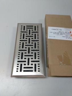 Floor Register Design Vent Cover Steel 4x10 brushed nickel f