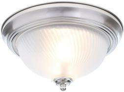 Flush Mount Ceiling LIght 2-Light Brushed Nickel Fixture Fro