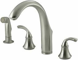 Forte Widespread Kitchen Faucet with Side Spray - Finish: Vi