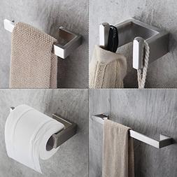Fapully Four Piece Bathroom Accessories Set Stainless Steel