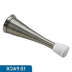 """Rok Hardware 3"""" Flexi Spring Heavy Duty Door Stop, Brushed N"""