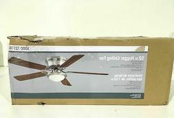 Hugger 52 in. Brushed Nickel Ceiling Fan New Other