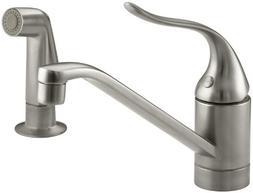 KOHLER K-15176-F-BN Coralais Single Control Kitchen Sink Fau