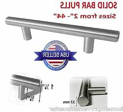 Kitchen Cabinet Door Handle Brushed Nickel SOLID Bar Pulls 4