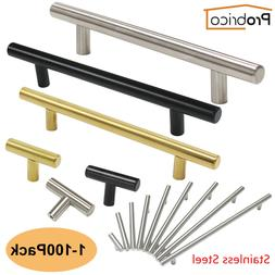 Probrico Kitchen Cabinet Pulls Brushed Nickel T Bar Stainles
