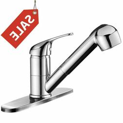 Kitchen Faucet Bathroom Sink with Pull-Down Sprayer Single-H