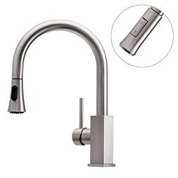 Wasserrhythm Stainless Steel Kitchen Sink Faucet with Pull D