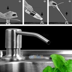350ML Kitchen Sink Liquid Bathroom Soap Dispenser Brushed Ni