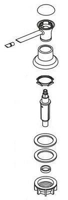 Moen 100509SRS Replacement Soap Dispenser Head, Spot Resist