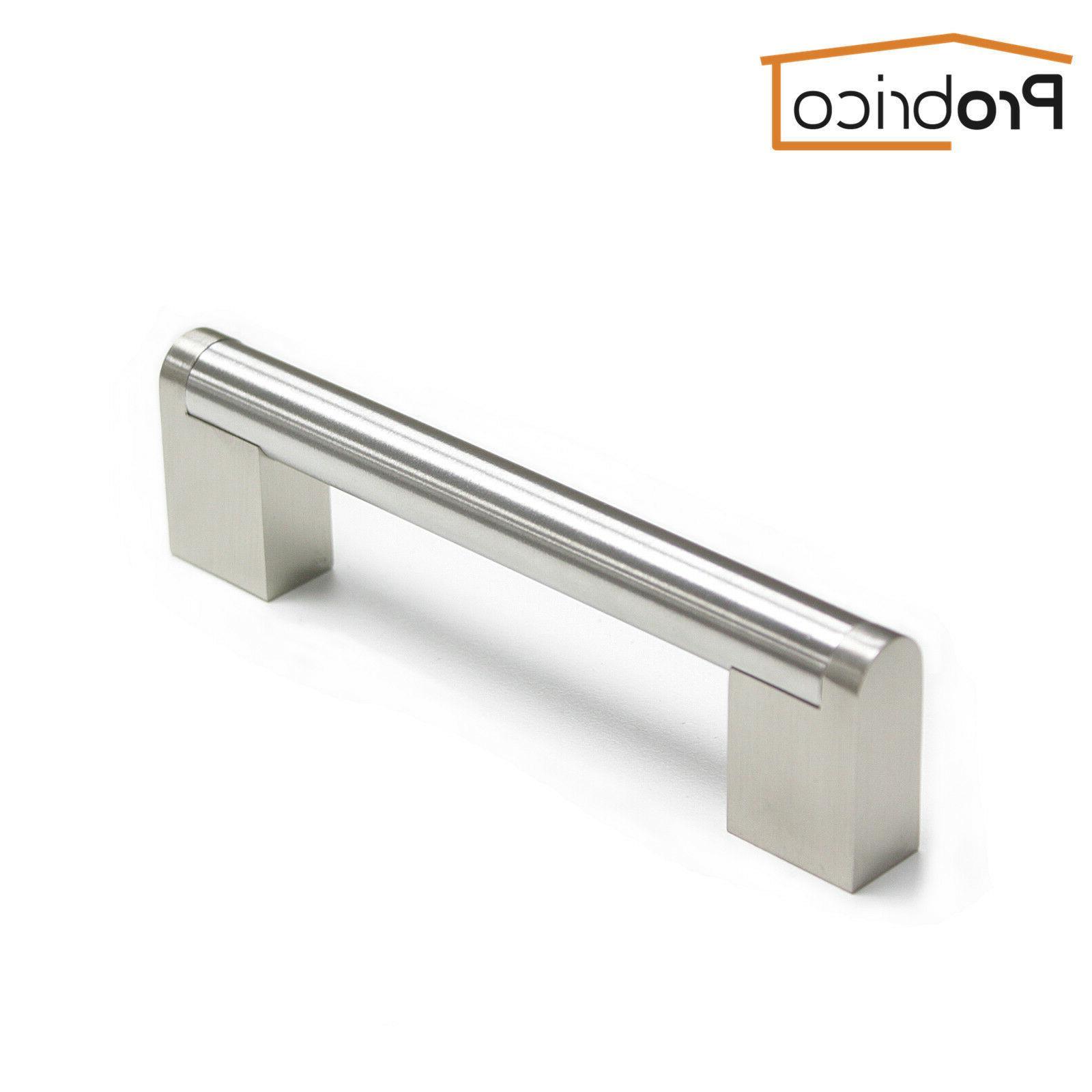 10PCS Nickel Cabinet Pulls Steel Boss Bar